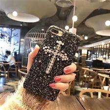3D Luxury Glitter Bling Diamond Crystal Cross Case Cover for iPhone 6/6S/7 Plus