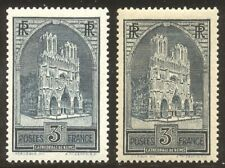 FRANCE #247-47A Mint NH - 1930 3fr Reims Cathdral