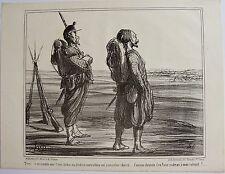 DAUMIER LITHOGRAPHIE ORIGINALE TIRAGE SUR BLANC, ACTUALITÉS N° 55, 1859