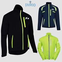 Men's Cycling Warm Jackets High Visibility Rain Water Resistant Windbreaker Coat