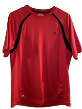 Fila Sport - Mens Red & Black Athletic Sports Shirt Top - Small