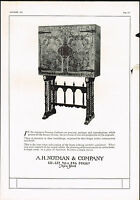 1920s BIG Vintage Notman New York Furniture Antique Dealer Photo Print Ad