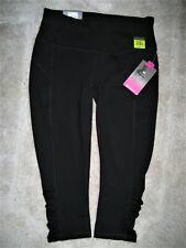 935923c4a4f3b9 NEW Tek Gear Women's Black Pull-On Shirred Capri Pants Size Small Petite