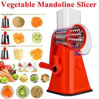 Vegetable Mandoline Slicer,Vegetable Fruit Cutter Shredder Rotary Drum Grater