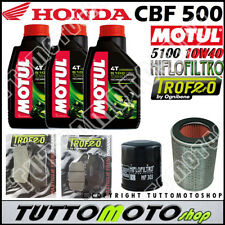 KIT TAGLIANDO HONDA CBF 500 2004 2005 2006 2007 2008 OLIO MOTUL FILTRI PASTIGLIE
