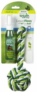 Tropiclean TriFloss Ball and Liquid Floss for Dogs - Medium/Large ((Free Shippin
