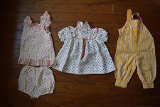 Vintage Handmade? 4 Pc Lot Baby Infant Girl Spring Summer Clothing 6-12 Months