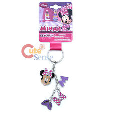 Disney Minnie Mouse 4 Charm Dangle Metal Key Chain  Purple Shoes