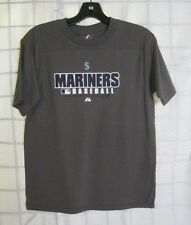 Authentic Majestic Seattle Mariners MLB Youth S Practice Tee Shirt New With Tags