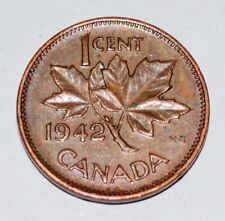 Canada 1942 1 Cent Copper One Canadian Penny Nice Coin