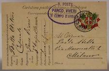 POSTA MILITARE 3° CORPO D'ARMATA 5.4.1916 TIMBRO PARCO VIVERI #XP210A