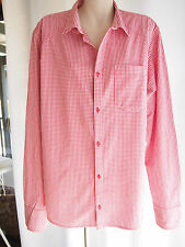 H&M  Red & White Check Cotton Long Sleeve Shirt  Sz XL  EXCELLENT CONDITION