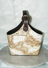 Vintage Looking Wine Bottle Caddy/Storage Basket   HSTBA-185 Map