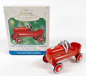 2000 Hallmark Ornament 1940 Garton Red Hot Roadster The Winners Circle 2nd