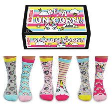 United Oddsocks Be A Unicorn Ladies UK 4 - 8 DREAMY ODD SOCKS GIFT BOX GIFT IDEA