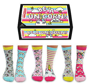 United Oddsocks Be A Unicorn Ladies UK 4 - 8 DREAMY ODD SOCKS GIFT BOX GIFT IDEA