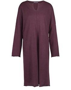 OSKA Boiled Wool Maroon Burgundy Long Dress Size2 UK12 UK14 RRP £350 *PERFECT*