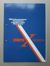Kubota Mini Excavators, Backhoes, Loaders & Dumpers 6 pg Leaflet Brochure 1989?