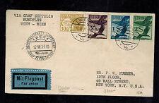 1931 Vienna Austria Graf Zeppelin cover Austria Flight LZ 127 Graz Drop