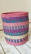 Multi Coloured abaca Basket 100% Abaca  Brand New