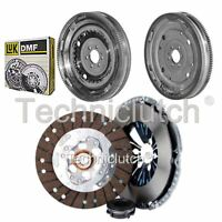 ECOCLUTCH 3 PART CLUTCH KIT AND LUK DMF FOR SKODA OCTAVIA ESTATE 1.6 TDI
