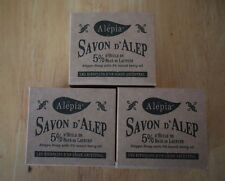 3 X 190g Traditional Aleppo Olive Soap with 5% Laurel Oil Savon d'Alep Syria