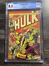 The Incredible Hulk #181 CGC 8.5 VF+ 1st App Wolverine - German reprint 1999