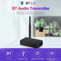 TX13 Bluetooth 5.0 Audio Transmitter 3.5mm AUX Jack RCA USB Coaxial Pratico BON