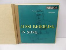 """1953 Jussi Bjoerling """"In Song"""" RCA Victor Red Seal Vinyl LP LM 1771"""
