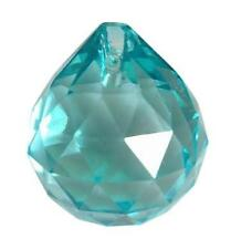 50mm Light Aqua Ball Chandelier Crystal Prism Wedding Decor Facets Antique Green