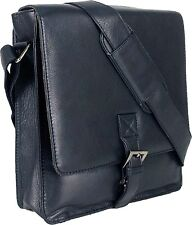UNICORN Real Leather iPad, Kindle, Tablets & Accessories Messenger Bag Black #1F