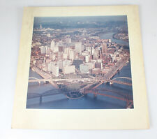 20X20 AERIAL PHOTOGRAPH OF DOWNTOWN PITTSBURGH   OAKLAND IN 1970S   20X20