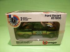 BBURAGO 0118 FORD ESCORT RS 1800 - RALLY 1:24 - RARE SELTEN - GOOD COND. IN BOX
