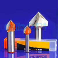 DIY V Shape Wood Router Bits CNC Tools End Mill For MDF Woodworking