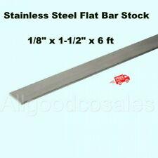 Stainless Steel Flat Bar Stock 18 X 1 12 X 6 Ft Rectangular 304 Mill Finish