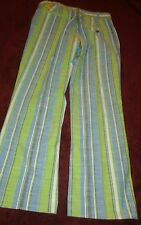 Loudmouth Men's Golf Green Blue & White Striped Long Pants 31X30 Golfing