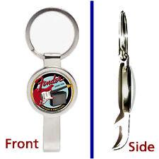 Fender Electric Guitars Pendant or Keychain silver tone secret bottle opener