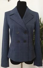 NWT Anne Klein Women's Light Blue Strip Polyester Blend Blazer Suit Sz 4 Ret$189