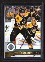 2017-18 Upper Deck Series 2 #264 Patrice Bergeron Boston Bruins Hockey Card MINT