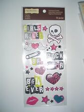 RECOLLECTIONS ROCK STAR SCRAP BOOK STICKERS