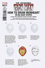 INVINCIBLE IRON  MAN  #593 (2017) 1ST PRINT ZDARSKY HOW TO DRAW VARIANT LEGACY