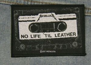 Metallica No life til leather sew  on patch Official merchandise metal music