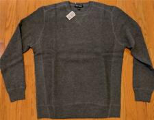 $350 Mens Neiman Marcus Cashmere Thermal Stitch Sweater Gray XL