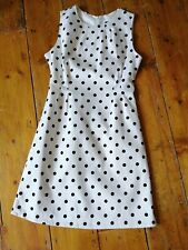 Pop Boutique Vintage Style White Polka Dot Wiggle Dress Pencil Dress BNWT