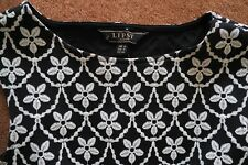 Lipsy Ladies black and white Dress - Size UK 8