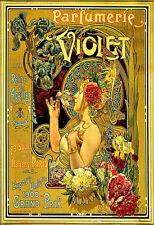 Art Publicitaire Parfumerie VIOLET parfum haute couture fashion chic deco Poster Print