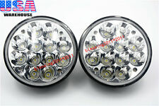 "2X 5-3/4"" inch Round H5001/H5006 Sealed Beam LED Headlights Flood Spot Beam 36W"