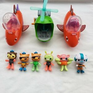 Octonauts Lot of 9 Gup-B Gup H B Figures Kwazii Barnacles Tweak Fisher Price