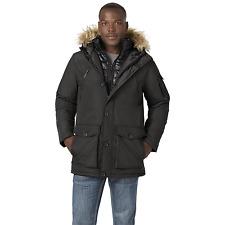 Men's Rocawear Hooded Parka with Bib Black XL #NJG1M-G6