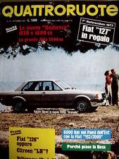 Quattroruote 262 1977 test Fiat 126 Citroen LN / Alfa Romeo Giulietta [SC.35]